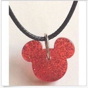 """Disney Jewelry - Silver Mickey Mouse Ears Necklace Disney 17-19"""""""